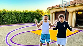 I Built a BASKETBALL COURT FOR FAZE RUG & BRAWADIS!!*Huge Surprise*