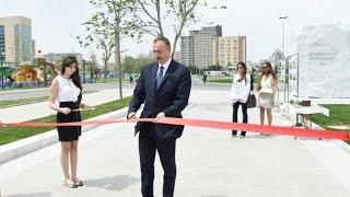 Ильхам Алиев принял участие в открытии бульвара «Баку-Белый город»(Президент Азербайджана Ильхам Алиев принял участие в открытии бульвара «Баку-Белый город», 2015-06-02T06:57:49.000Z)