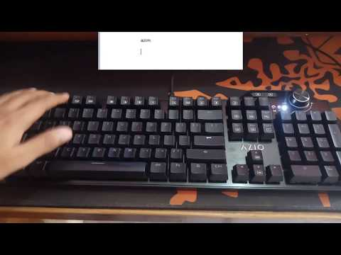 How To Record Marco On Azio MGK L80 RGB Mechanical Gaming Keyboard