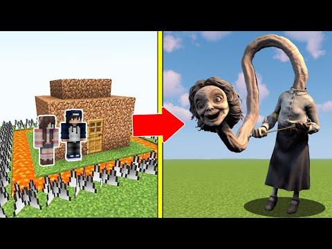 CÔ GIÁO CỔ DÀI Tấn Công Nhà Được Bảo Vệ Bởi bqThanh và Ốc Trong Minecraft (The Teacher)