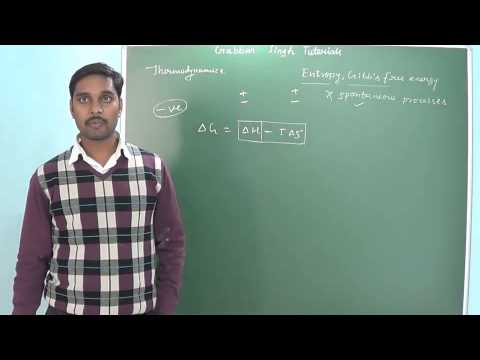 2.4 Entropy, Gibb's free energy & spontaneous processes (Thermodynamics) (Chemistry class 11 and 12)