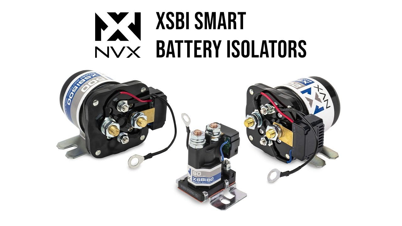 Eliminates Voltage Drop in Multi-Battery Systems with the New NVX Smart Battery Isolators