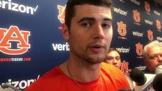 Auburn's Jarrett Stidham speaks to the media after falling to LSU