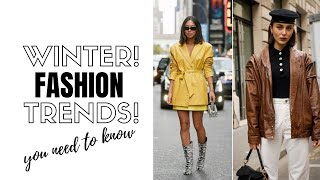 Top 10 Winter Fashion Trends | How To Style