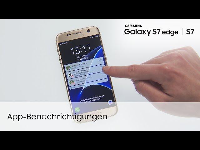 Samsung Galaxy S7 S7 Edge App Benachrichtigungen Youtube