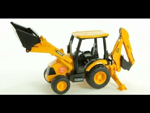 JCB MIDI CX Backhoe Loader (Bruder 02427) | ブルーダー  MIDI CX バックホールランド  | Muffin Songs' Toy Review