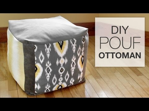 How To Make A Pouf Ottoman Youtube