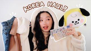 KOREA HAUL | fashion, stationery, BTS stuff, cute stuff