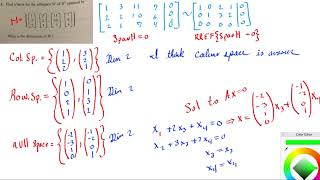 Find a basis for the subspace W of R3 spanned by the set of column vectors thumbnail