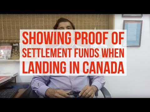 Manoj Palwe on how to show the proof of funds when you land in Canada!