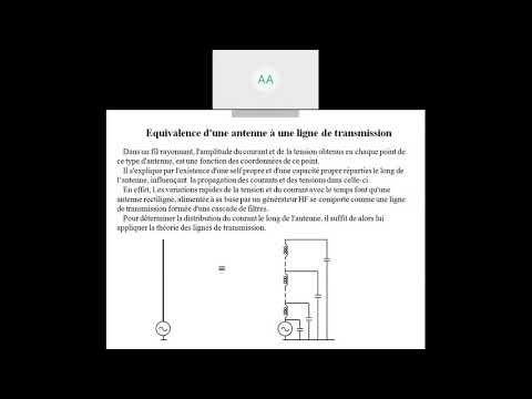 Cours d'antennes  : effet de ligne des antennes