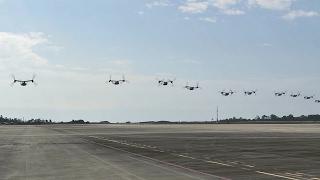 10 ship cv 22 formation flyover