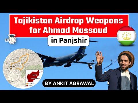 Tajikistan airdrops weapons for Ahmad Massoud's Northern Alliance - Tajikistan Taliban Relations