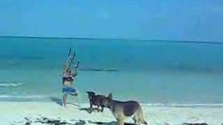 Kiteboarding Across the Sand in Providenciales