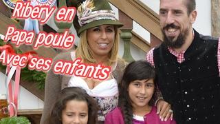Franck Ribéry véritable papa poule avec ses enfants