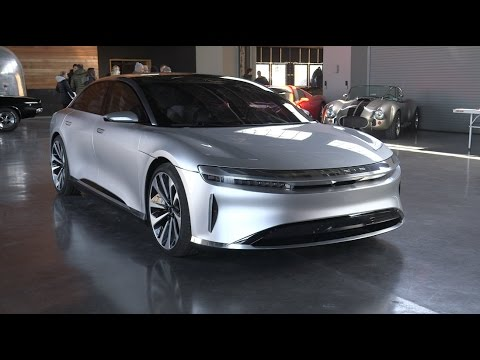 Lucid Air is a futuristic electric car created by former Tesla execs