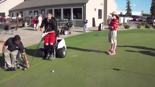 Jack Jablonski Golf Putting with a Hockey Stick