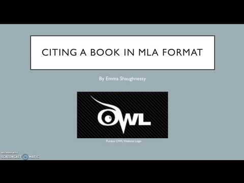 MLA Format Video