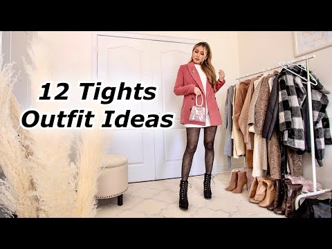 Winter Outfit Ideas | How to style tights in the cold