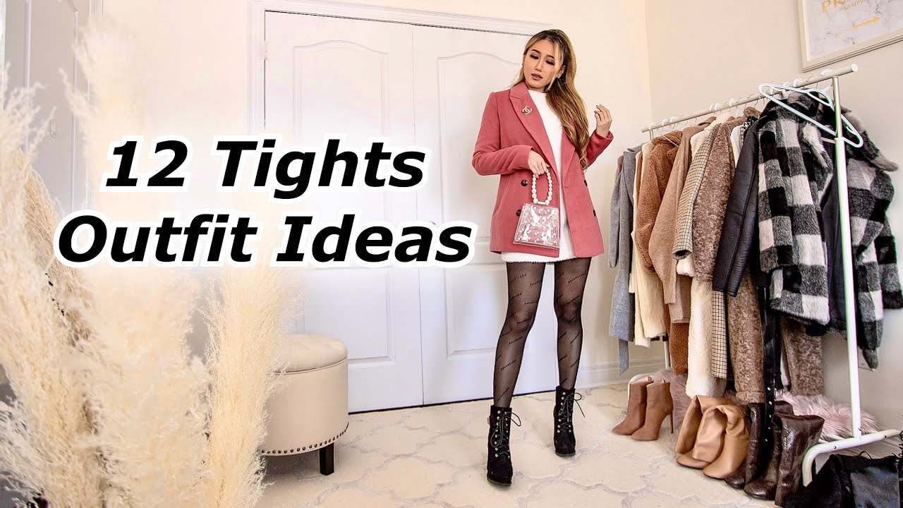 Tights Outfit Ideas | How to style tights in the cold