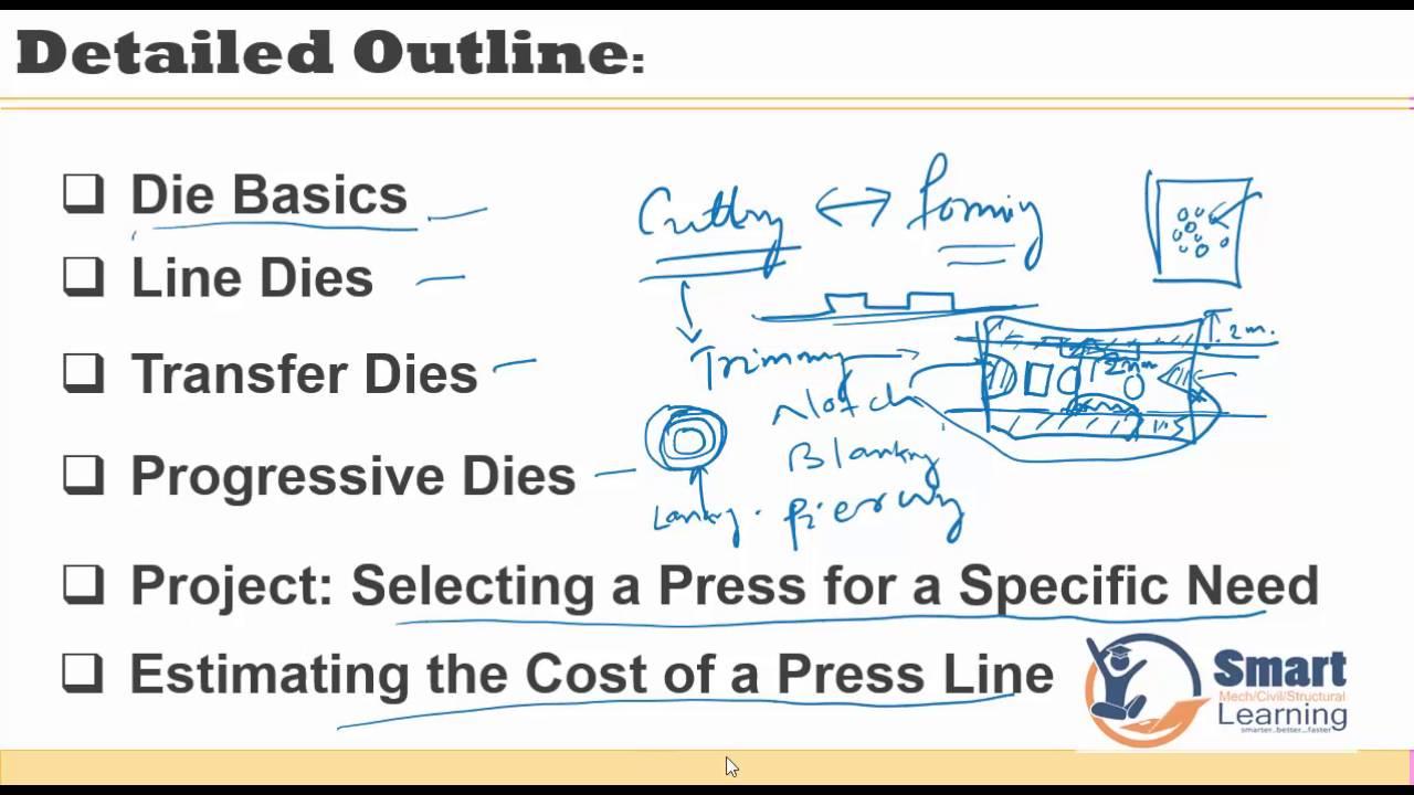 Die Basics & sheetmetal Manufacturing Cost Estimation -FTI Training