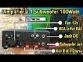 Tutorial membuat Amplifier 2.1 subwoofer di Box plastik dengan cara mudah sederhana