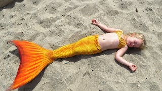 Kids Magic Transform The Mermaid in Sea / Giant Stacking Rings Educational Video