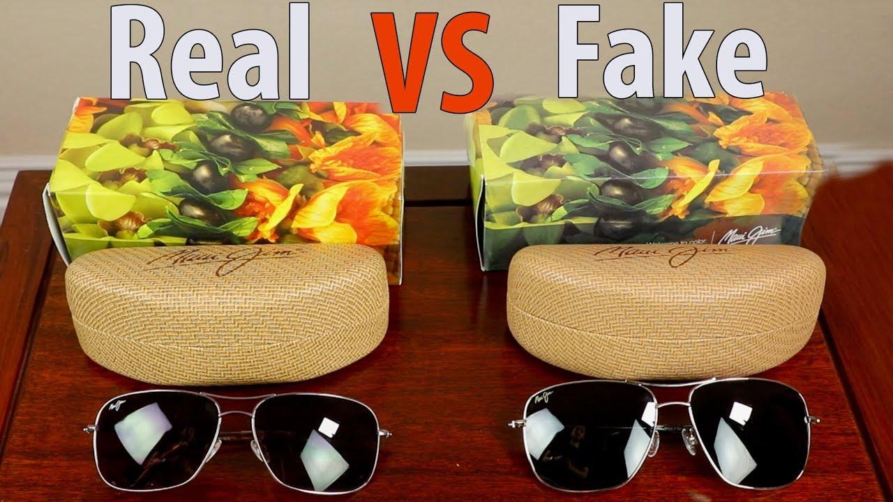 390c5931bae How to Identify Fake Maui Jim Sunglasses - YouTube