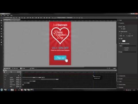 Google Web Designer Tutorial - Building a Valentine's Banner in GWD