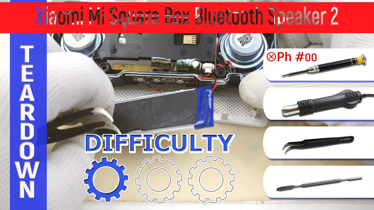 Xiaomi Mi Square Box Bluetooth Speaker 2 XMYX03YM 🔊 Teardown Take apart Tutorial