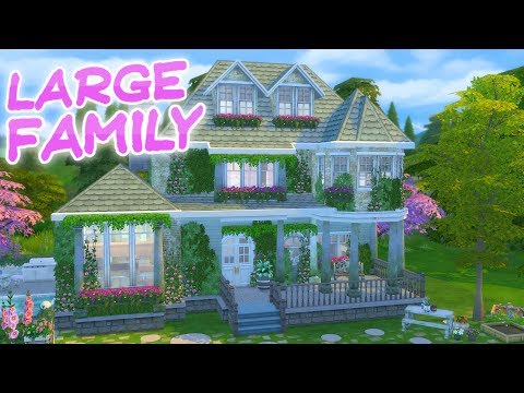 The Sims 4: Parenthood LARGE FAMILY HOME | Speed Build
