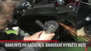 SV: Použití zvedáku DZS-595 na broušení nožů (sekací traktory řady W2900)