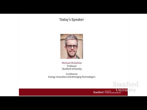 Stanford Webinar - Game-Changer for Solar Energy: Perovskite Semiconductors