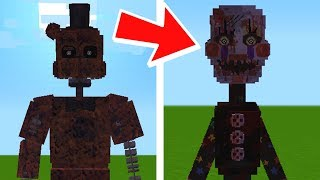 Escaping FNAF Ignited and Tormented Animatronics in Minecraft! (Minecraft FNAF Universe Mod)