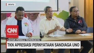 Download Video TKN Apresiasi Pernyataan Sandiaga Uno MP3 3GP MP4