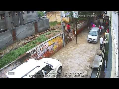 Live police encounter | brave policeman Chasing Suspect