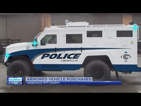 Greenville police adds armored vehicle to force
