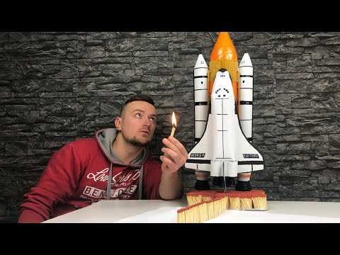 EPIC Space Shuttle Launch With Matches Chain Reaction