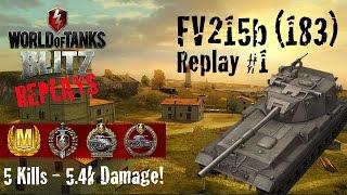 World of Tanks Blitz Replays - FV215b (183) Gameplay #1
