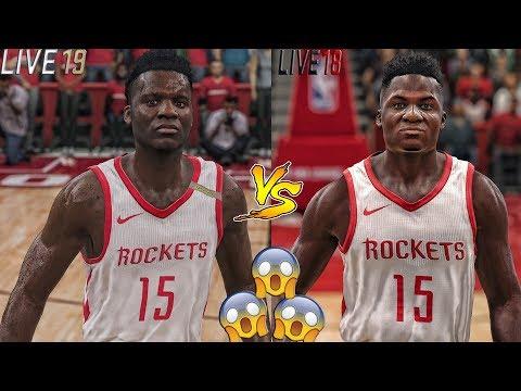 ITS NOT EVEN CLOSE!! NBA Live 19 VS NBA Live 18 Graphical Comparison! Live 19 Screenshots!!