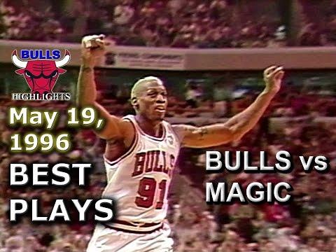 May 19 1996 Bulls vs Magic game 1 highlights