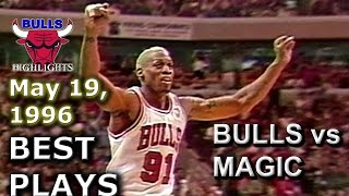May 19 1996 Bulls vs Magic game 1 highlights