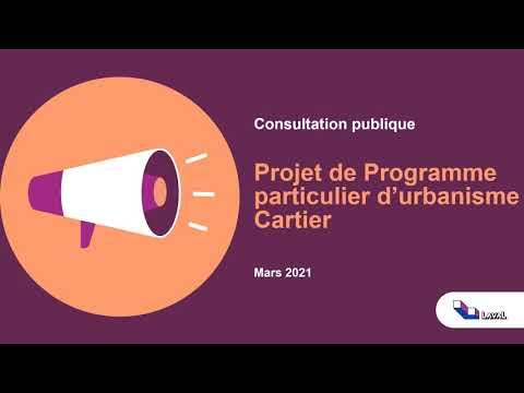 Projet de programme particulier d'urbanisme du secteur Cartier
