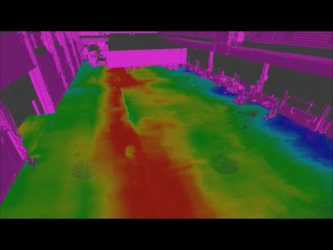 Verifying concrete levelness for drainage purposes using 3D Laser Scanning / LiDAR