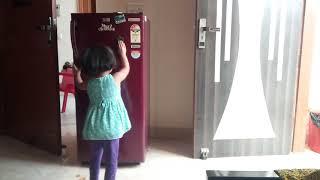 Fridge Cleaning by Little Girl Pihu😁