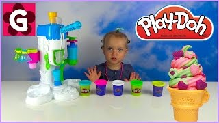 Gaby playing with Play Doh Ice Cream Playset