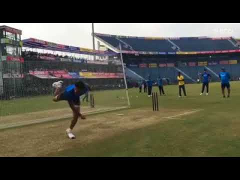 Indian team Bowling pratice