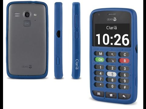 Short demo of Doro 820 Mini Claria - A Smartphone for the blind