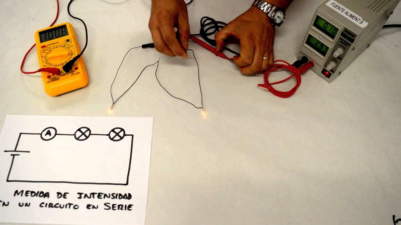Circuito Serie : Medida de voltaje e intensidad en circuito serie y paralelo youtube