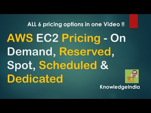 AWS EC2 Pricing Examples - On Demand, Reserved, Spot, Scheduled & Dedicated